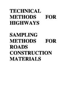 ROADS CONSTRUCTION MATERIALS