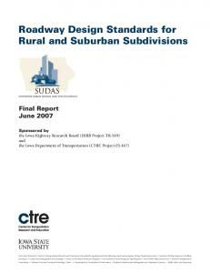 Roadway Design Standards for Rural and Suburban Subdivisions
