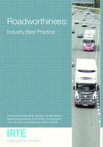 Roadworthiness: Industry Best Practice
