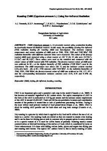 Roasting Chilli (Capsicum annuum L.) Using Far-Infrared Radiation