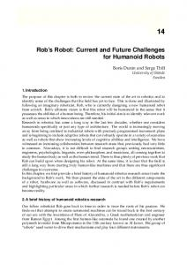 Rob s Robot: Current and Future Challenges for Humanoid Robots