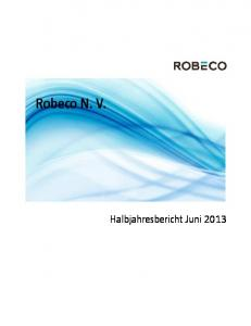 Robeco N. V. Halbjahresbericht Juni 2013
