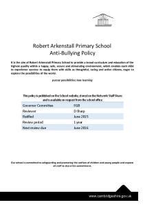 Robert Arkenstall Primary School Anti-Bullying Policy