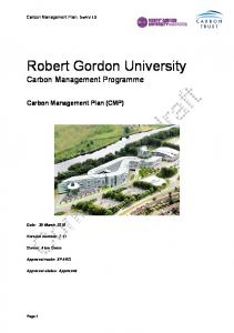 Robert Gordon University Carbon Management Programme