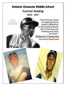 Roberto Clemente Middle School Summer Reading