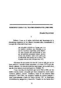 ROBERTO COSSA Y EL TEATRO DOMINANTE ( )