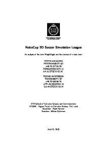RoboCup 2D Soccer Simulation League