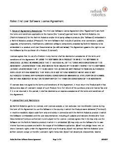 Robot End User Software License Agreement