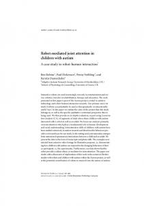 Robot-mediated joint attention in children with autism