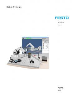 Robot Systems. LabVolt Series. Datasheet