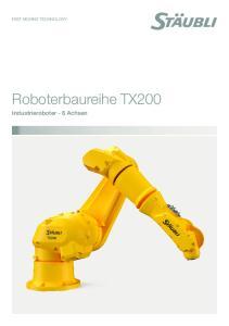 Roboterbaureihe TX200. Industrieroboter - 6 Achsen