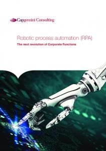 Robotic process automation (RPA) The next revolution of Corporate Functions