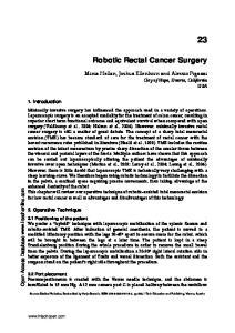 Robotic Rectal Cancer Surgery