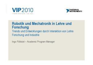Robotik und Mechatronik in Lehre und Forschung