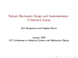 Robust Mechanism Design and Implementation: A Selective Survey