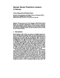 Robust Model Predictive Control: A Survey