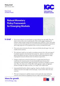 Robust Monetary Policy Framework for Emerging Markets