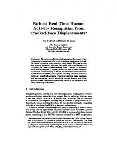 Robust Real-Time Human Activity Recognition from Tracked Face Displacements