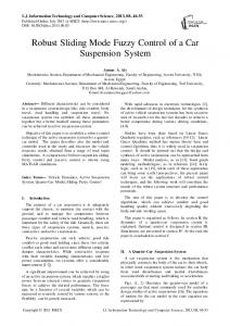 Robust Sliding Mode Fuzzy Control of a Car Suspension System
