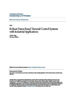 Robust Vision-based Thermal Control Systems with Industrial Applications
