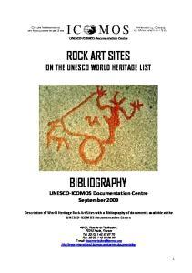 ROCK ART SITES ON THE UNESCO WORLD HERITAGE LIST