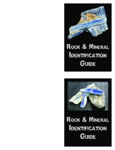 ROCK & MINERAL IDENTIFICATION GUIDE
