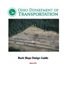 Rock Slope Design Guide