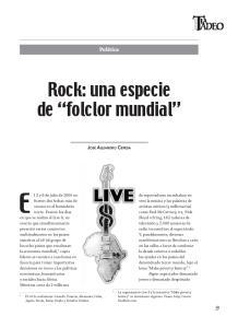 Rock: una especie de folclor mundial