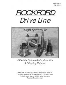 ROCKFORD Drive Line. High Speed CV