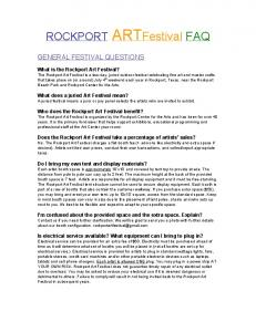 ROCKPORT ART Festival FAQ