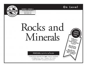 Rocks and Minerals. On Level. FOCUScurriculum