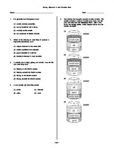 Rocks, Minerals & Soil Practice Test (1) (2) (3) (4)