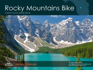 Rocky Mountains, Canada Cycle the Icefields Parkway