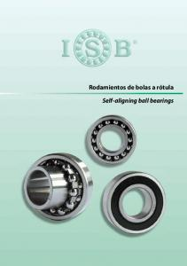 Rodamientos de bolas a rótula. Self-aligning ball bearings