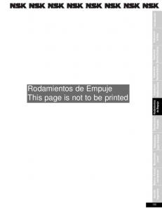 Rodamientos de Empuje This page is not to be printed