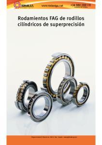 Rodamientos FAG de rodillos cilíndricos de superprecisión