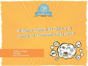 Rodrigo Vergara Presidente Banco Central de Chile