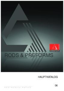 Rods & PRefoRms HAUPTKATALOG DE