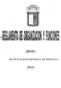 (ROF) MUNICIPALIDAD DISTRITAL DE PIMENTEL