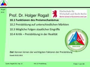 Rogall 2013 Prof. Dr. Holger Rogall