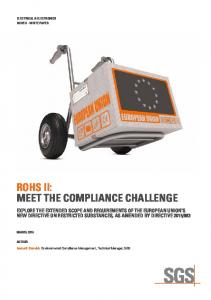 RoHS II: MEET THE COMPLIANCE CHALLENGE