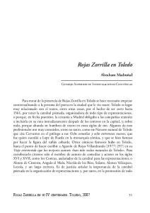 Rojas Zorrilla en Toledo
