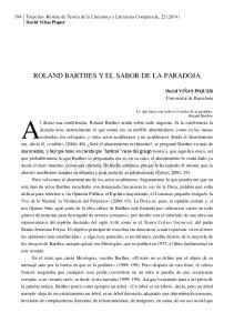 ROLAND BARTHES Y EL SABOR DE LA PARADOJA