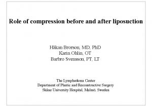Role of compression before and after liposuction