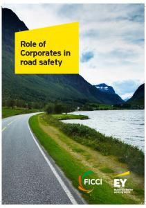 Role of Corporates in road safety