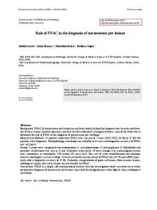Role of FNAC in the diagnosis of intraosseous jaw lesions