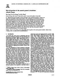 Role of gyration in the oceanic general circulation: Atlantic Ocean