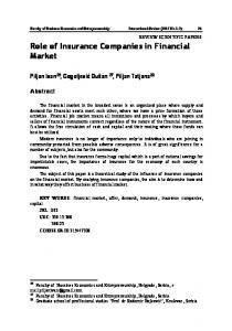 Role of Insurance Companies in Financial Market