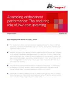 role of low-cost investing