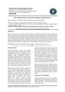 Role of mifepristone in conservative management of fibroid uterus